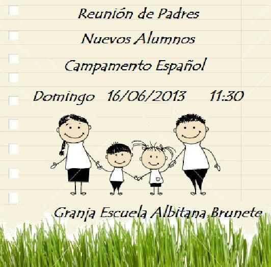 Reuniones de Padres (campamentos Albitana en español y bilingüe inglés-español) Brunete (Madrid)