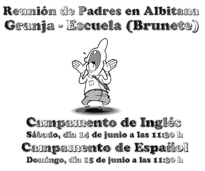 Reuniones de Padres (campamentos Albitana en español y bilingüe inglés-español) Granja Escuela Albitana en Brunete (Madrid)