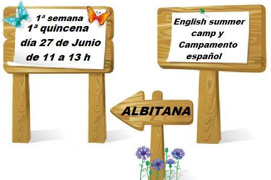 27 de Junio, entrada campamentos de verano ingles y español 1ª semana y 1ª quincena