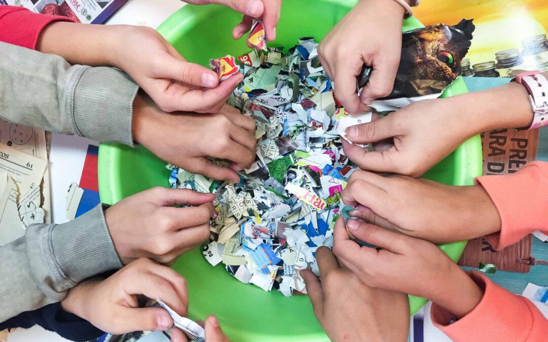 Cómo hacer papel reciclado fácil para niños – Granja Escuela Albitana