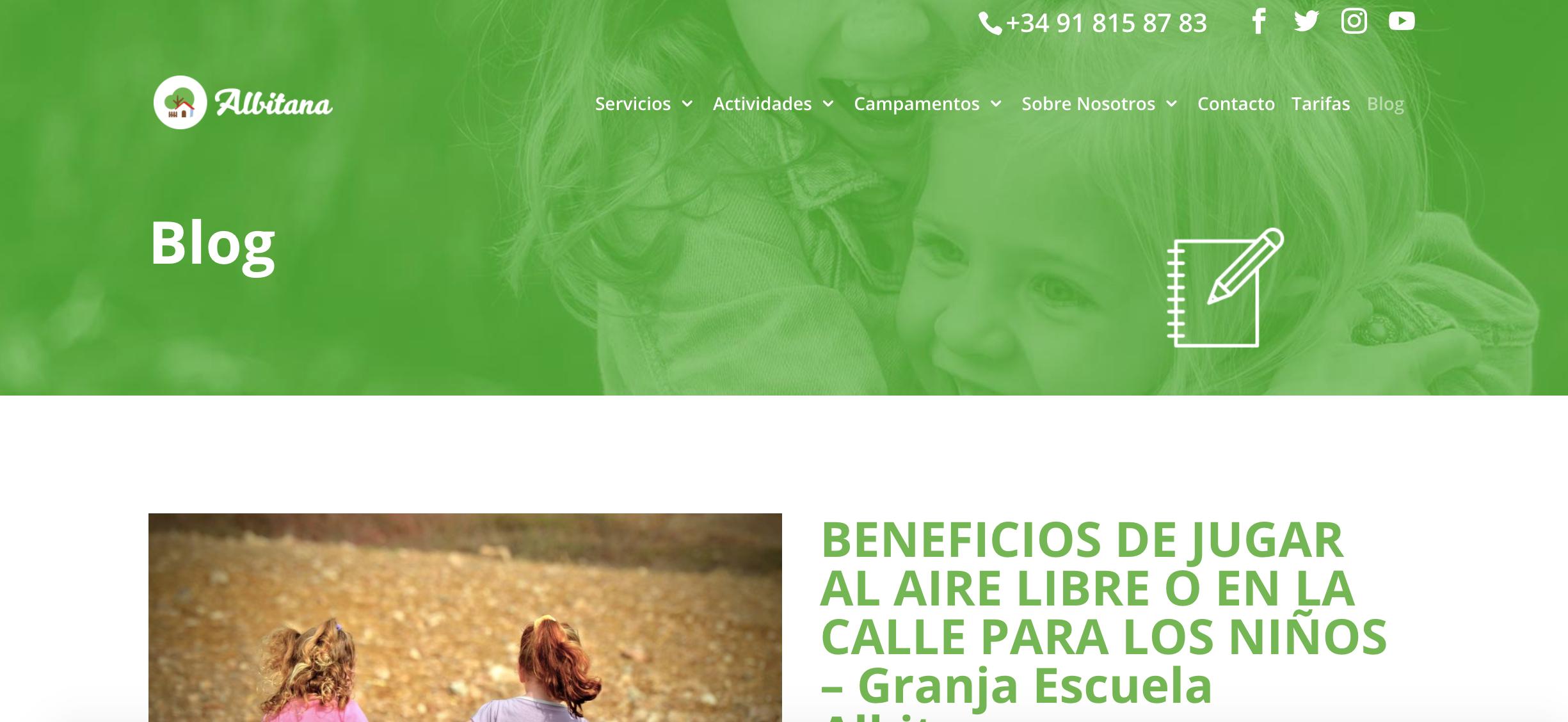 nuevo blog granja escuela albitana