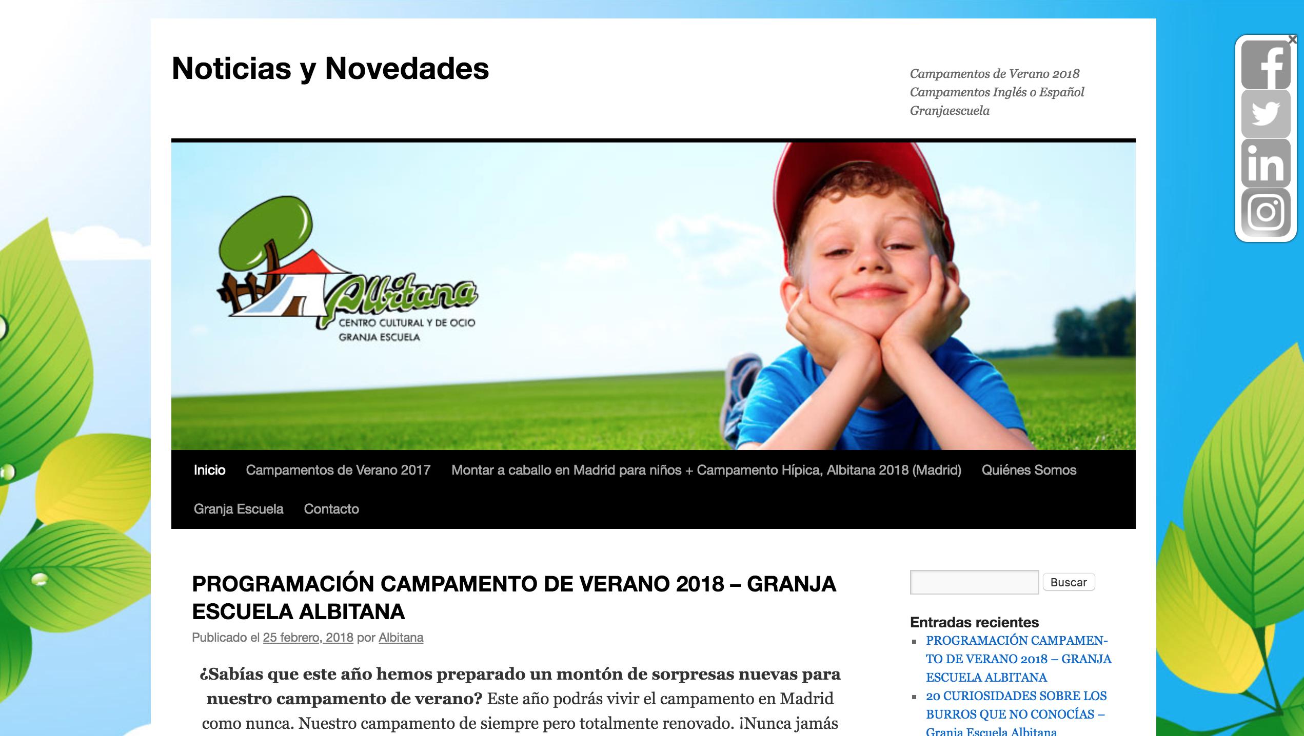blog granja escuela albitana