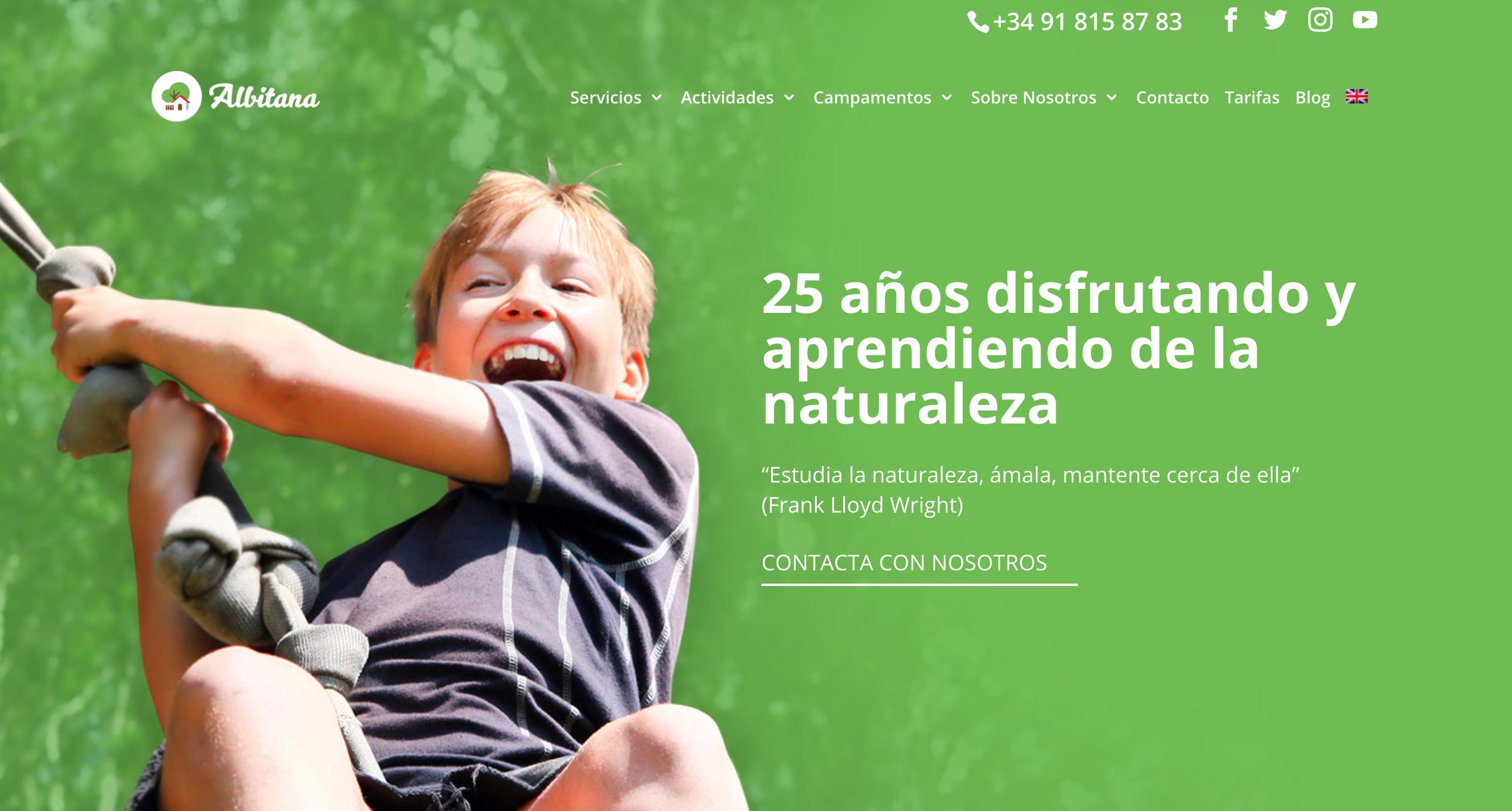 niños felices en la nueva web de albitana
