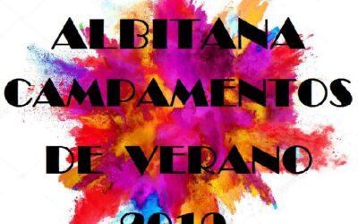 HORA DE SALIDA CAMPAMENTOS DE VERANO ALBITANA 28/7/2019